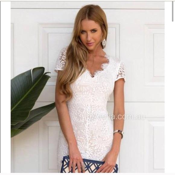 14e694e07b8b Xenia Boutique Dresses | White Willow Lace Dress | Poshmark